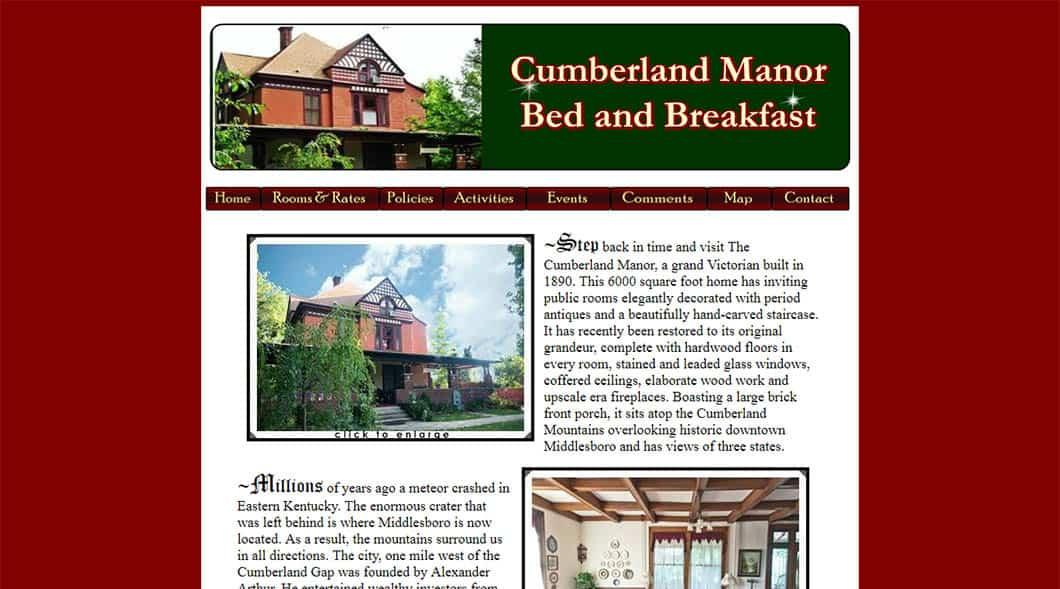 CumberlandManorBedAndBreakfast.com