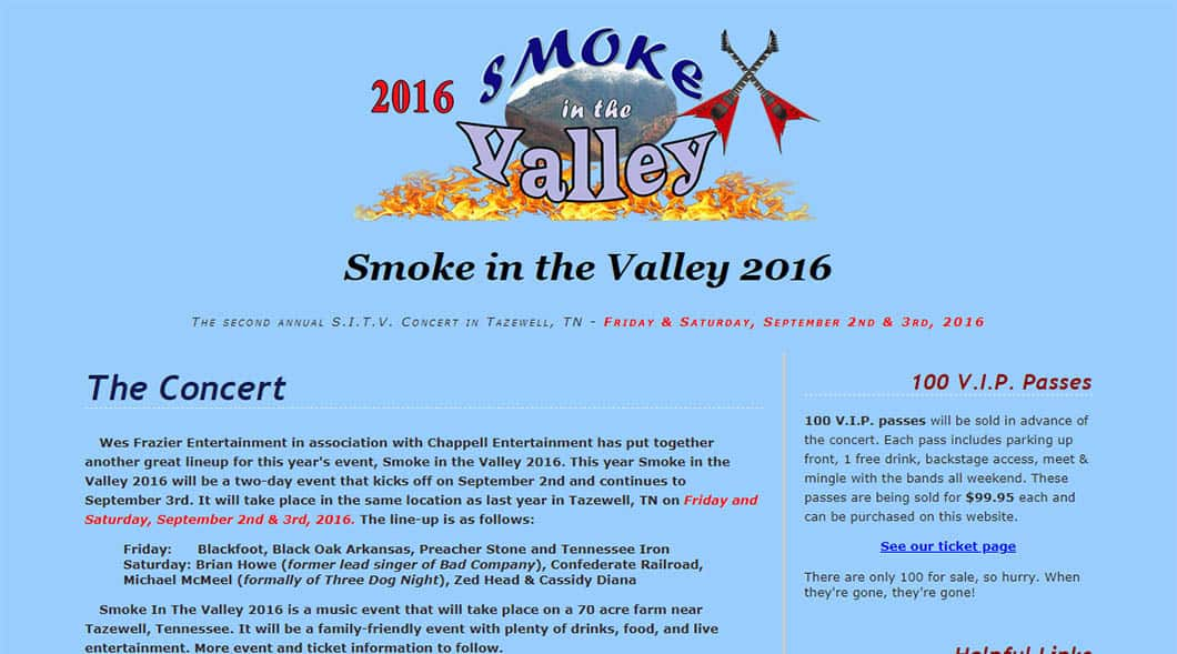 SmokeInTheValleyTn.com
