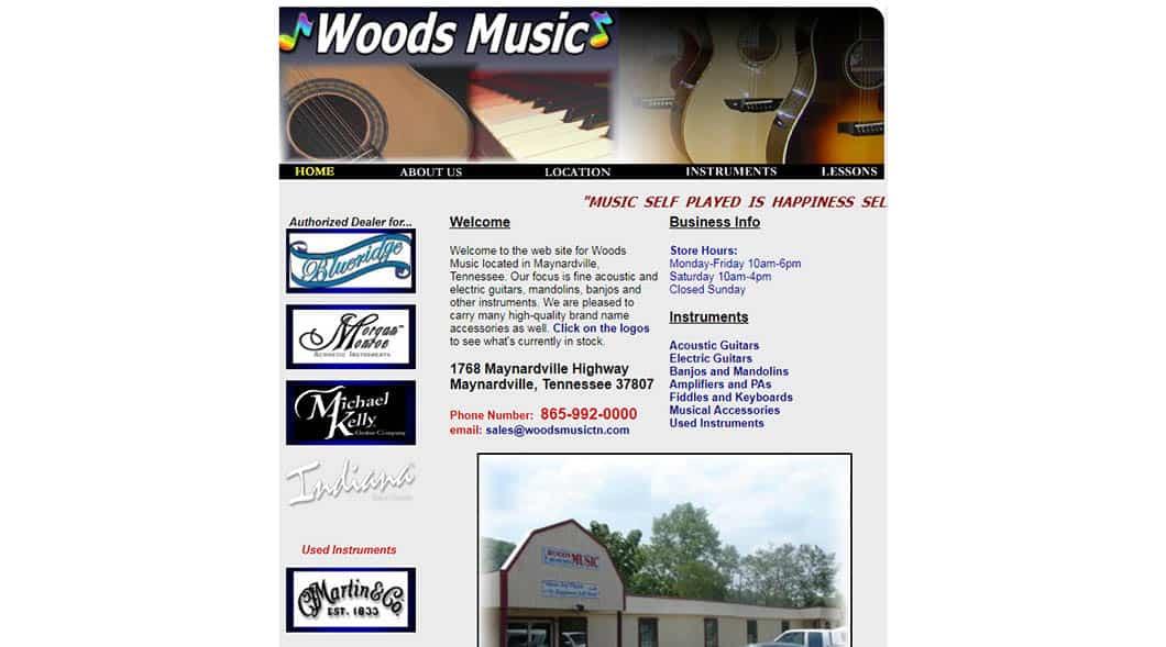 WoodsMusicTN.com